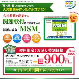 久光 MSM+グルコサミンEX